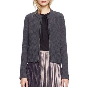 Tory Burch | Tauren Wool Cardigan w/ Elbow Patches